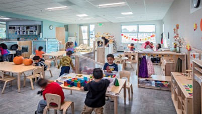 Kids playing in class